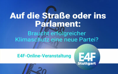 Einladung zum E4F-Online-Event – 27. Januar 2021 –